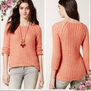 Anthropologie Knitted & Knotted Chunk Knit Sweater